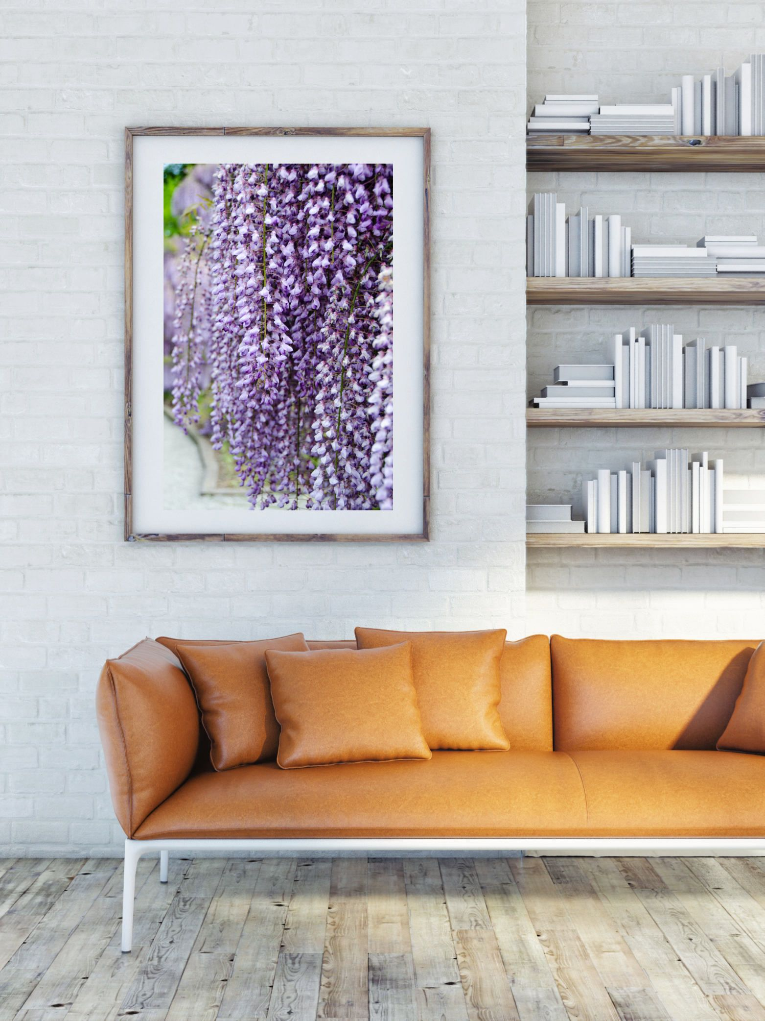 Wisteria Purple Flower Photography Large Format Wall Art