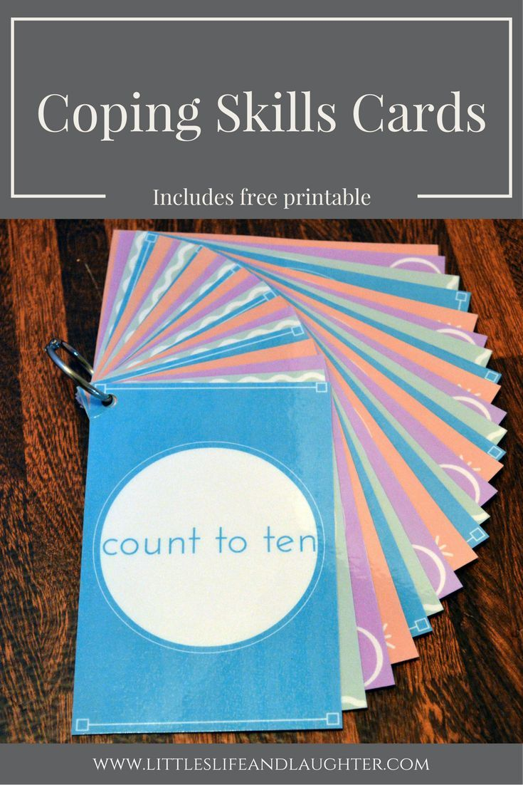 Coping Skills Cards | Pinterest | Coping skills, Free printable and ...
