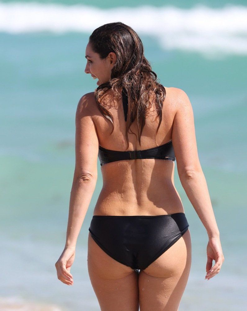swimsuit black Kelly brook