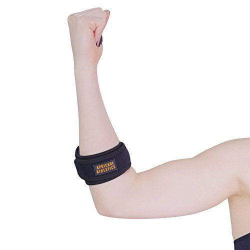 f8201eec36 Tennis Elbow Brace - Apricari Athletics Forearm Straps For Pain Caused By  Lateral and Medial Epicondylitis and Golfer's Elbow #strength #tennis  #tenniselbow ...