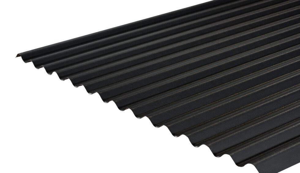 Cladco 13 3 Corrugated Sheets In Anthracite Pvc 0 7mm Thickness By Cladco Archello In 2020 Corrugated Roofing Steel Cladding Corrugated Steel Roofing