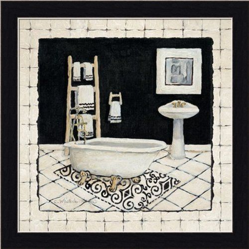 Pamper Me I by Charlene Olson Black White Bathroom Décor Art Print ...
