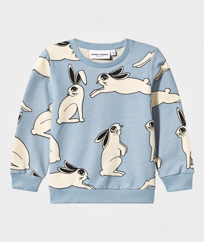 Mini Rodini Rabbit Sweatshirt Light Blue