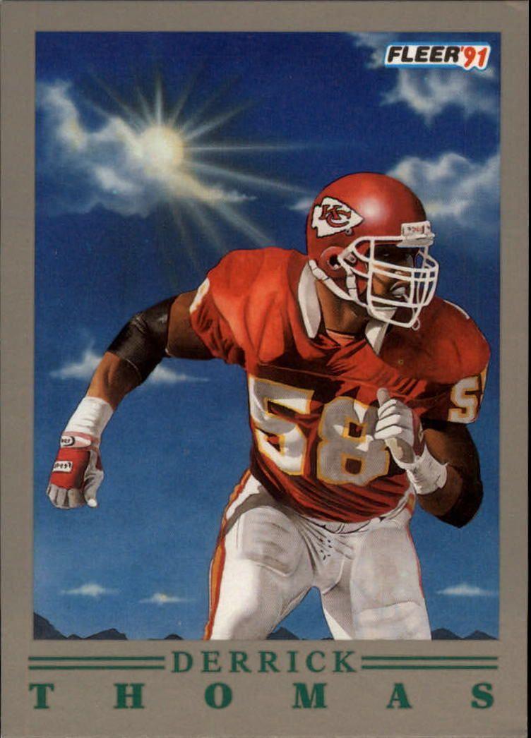 1991 (CHIEFS) Fleer ProVision 9 Derrick Thomas in Sports