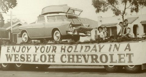 Weseloh Chevrolet Vintage Photograph Chevrolet 1955 Chevy 55 Chevy