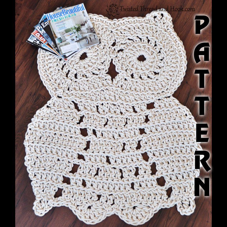 Rope Owl Rug Pattern Crochet Decor