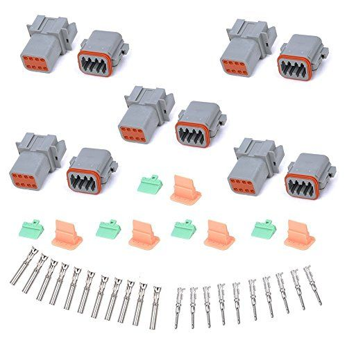 Muyi 5 Kit 8 Pin Way Dt Series Connector Gray Receptacle Https Www Amazon Com Dp B01g9xy1bk Ref Cm Sw R Pi Dp X Dcflzbkp9 Receptacles Connector Kids Rugs