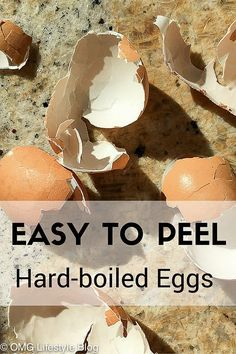 Perfect Easy-to-Peel Hard-Boiled Eggs - OMG Lifestyle Blog #hardboiledeggs