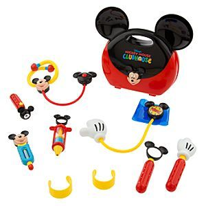 Disney Mickey Mouse Clubhouse Doctor Set   Disney StoreMickey Mouse Clubhouse Doctor Set - You'll have a junior physician in residence with our 10-piece Mickey Mouse doctor's kit play set. Doc Mickey makes a housecall carrying a colorful mouse-eared case filled with toy medical equipment to keep everyone feeling good.