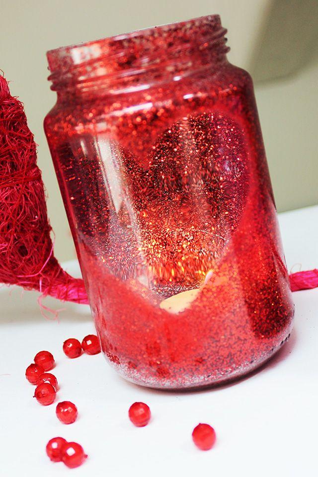 Idee per san valentino fai da te con barattoli di vetro navidad pinterest diy ideas - Decori per san valentino ...