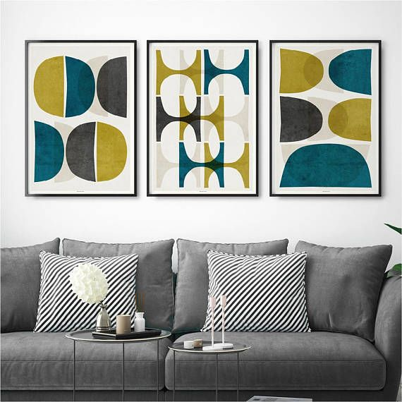 Set Of 3 Prints U2013 Abstract Wall Art Print Set U2013 Living Room Print U2013 Large Wall  Art Print   Product Images Of
