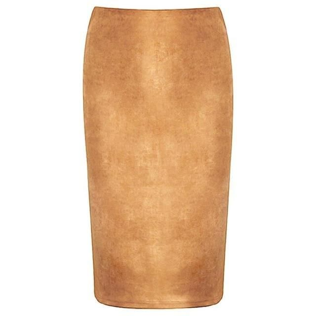 99e301f13a Kira Suede Look Pencil Skirt in 2019 | BEL EPOQ | Women's Retro ...