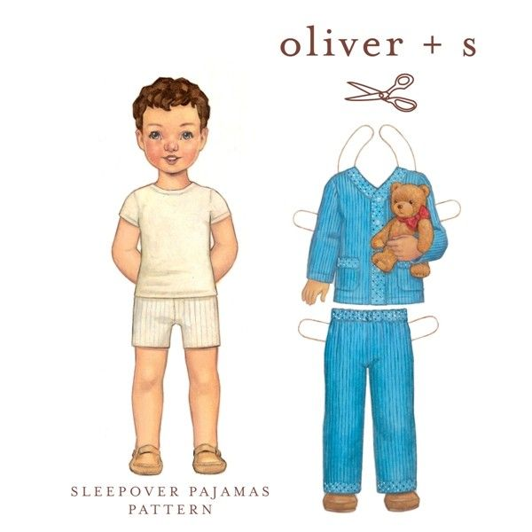 Sleepover Pajamas: Digital - Sewing pattern from designer Oliver and S - A 'print at home' PDF download.