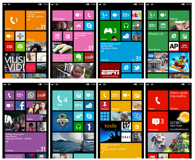 Windows Phone 8 different colors interface