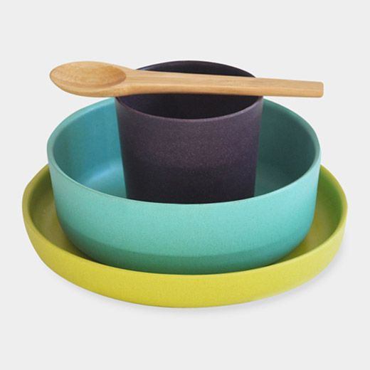 Biobu Children\u0027s Dish Set PRODUCT DESCRIPTION Biobu Children\u0027s Dish Set Biodegradable bamboo fiber and other natural : bamboo bowls and plates - pezcame.com