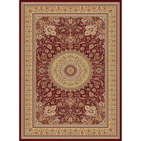 concord global cyrus rectangular red floral woven area rug common 5ft