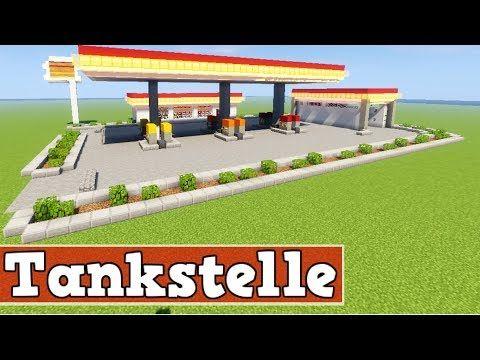 Wie baut man eine Tankstelle in Minecraft