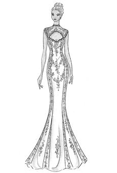 1aa615382620c elbise çizimleri - Google'da Ara | Designs | Moda karalama defteri ...
