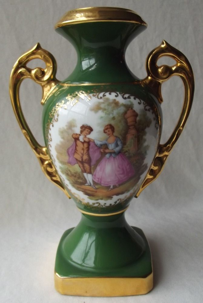 Gorgeous Limoges France Fragonard Courting Couple Urn Vase 9t Tea
