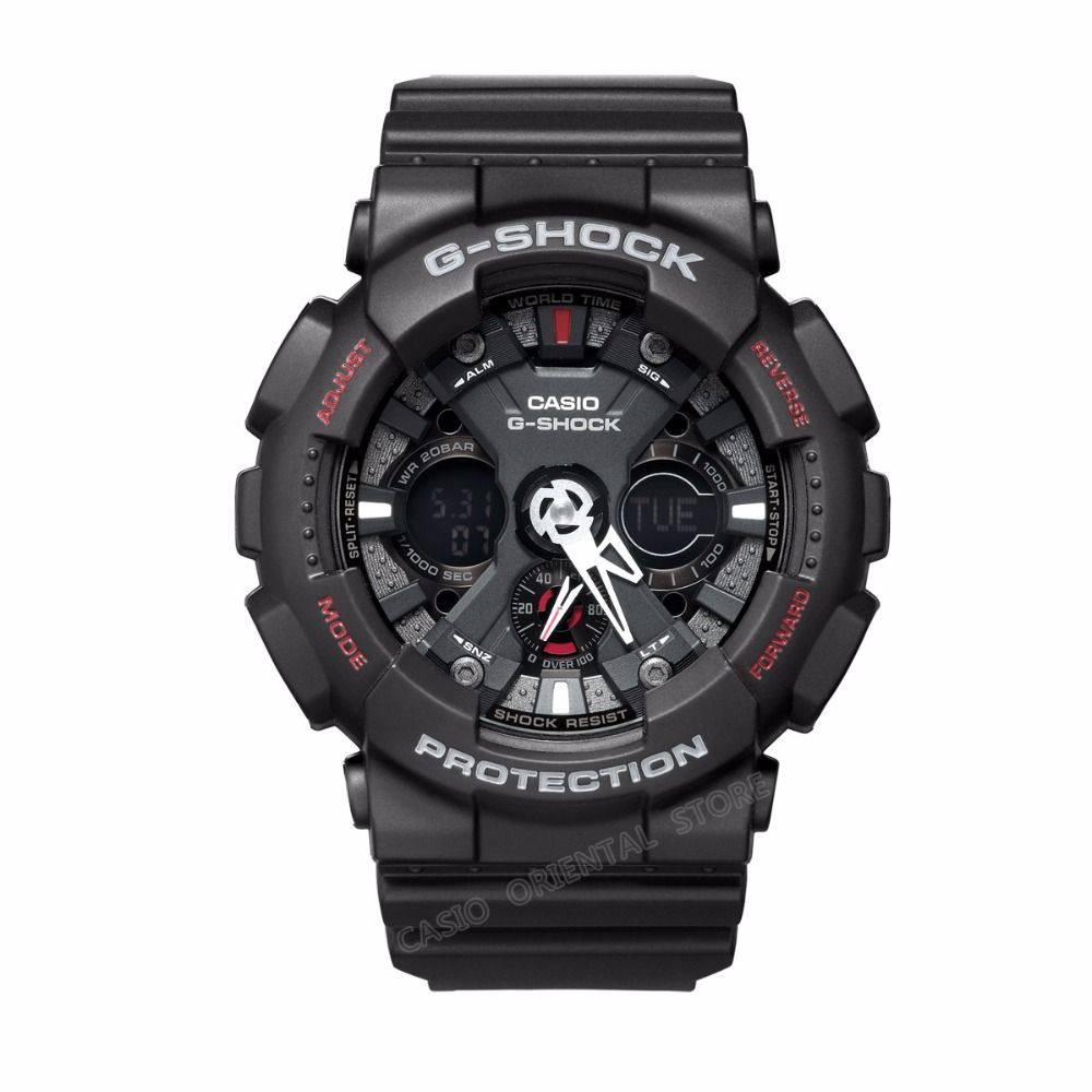 c4f4f8a81e3 CASIO Watch G-SHOCK Dual Display Wrist Watch Men GA-120-1A Waterproof