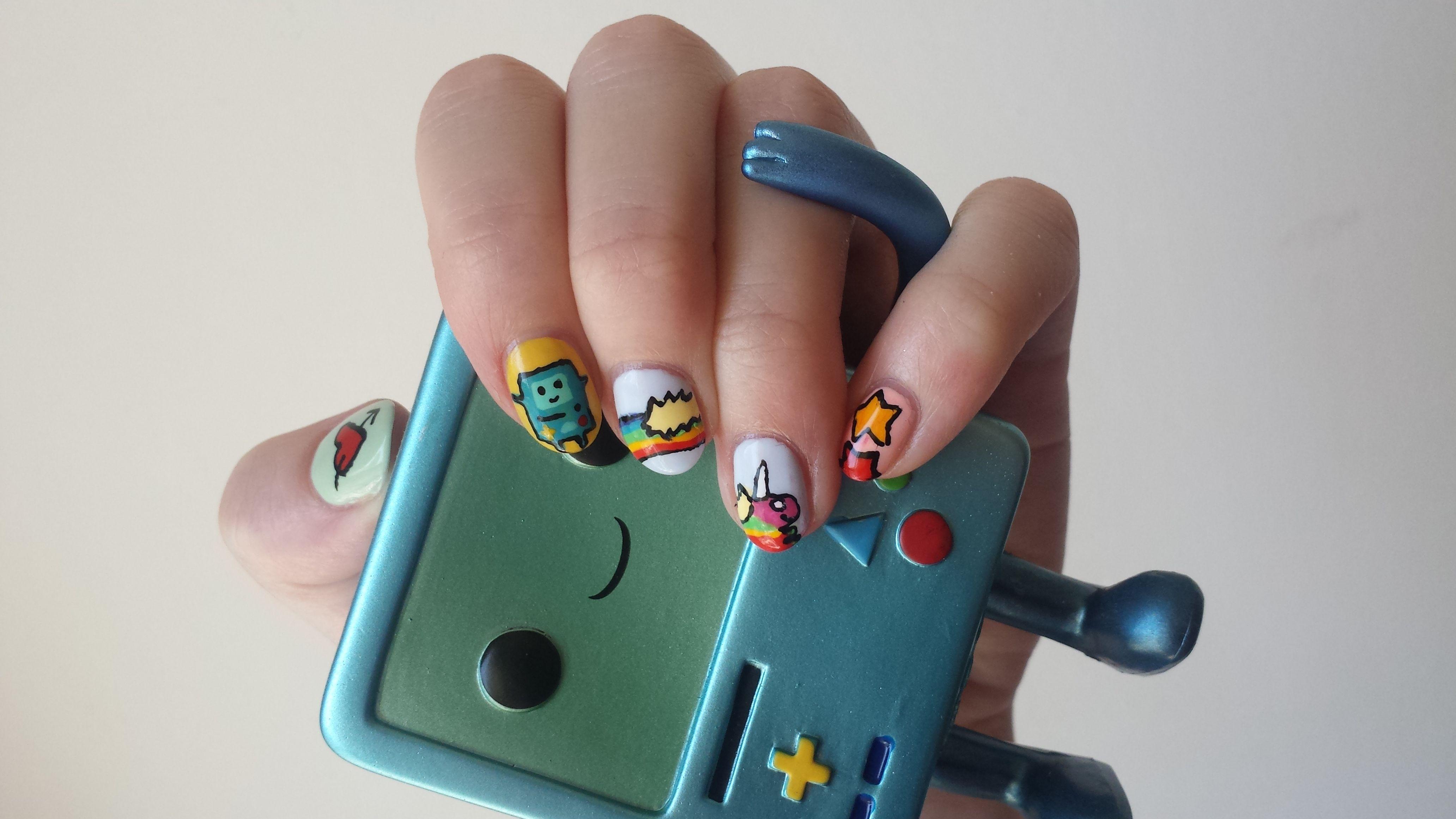 adventure time nail art by SHE NAIL at brighton beauty salon powder ...