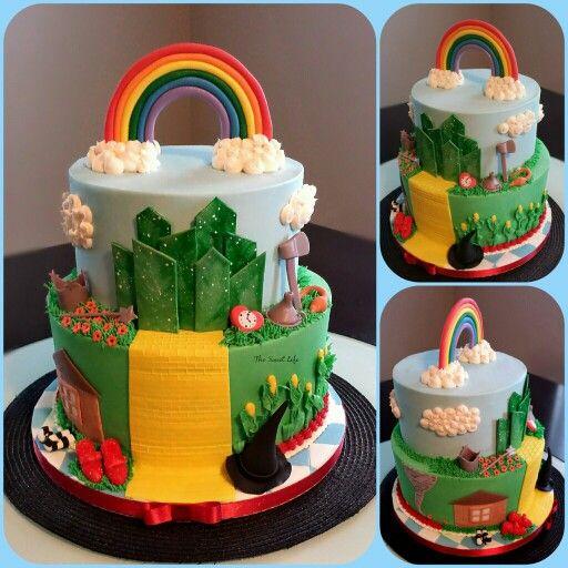 Awesome Wizard Of Oz Birthday Cake Birthday Cake Kids Party Cakes Cake Funny Birthday Cards Online Bapapcheapnameinfo