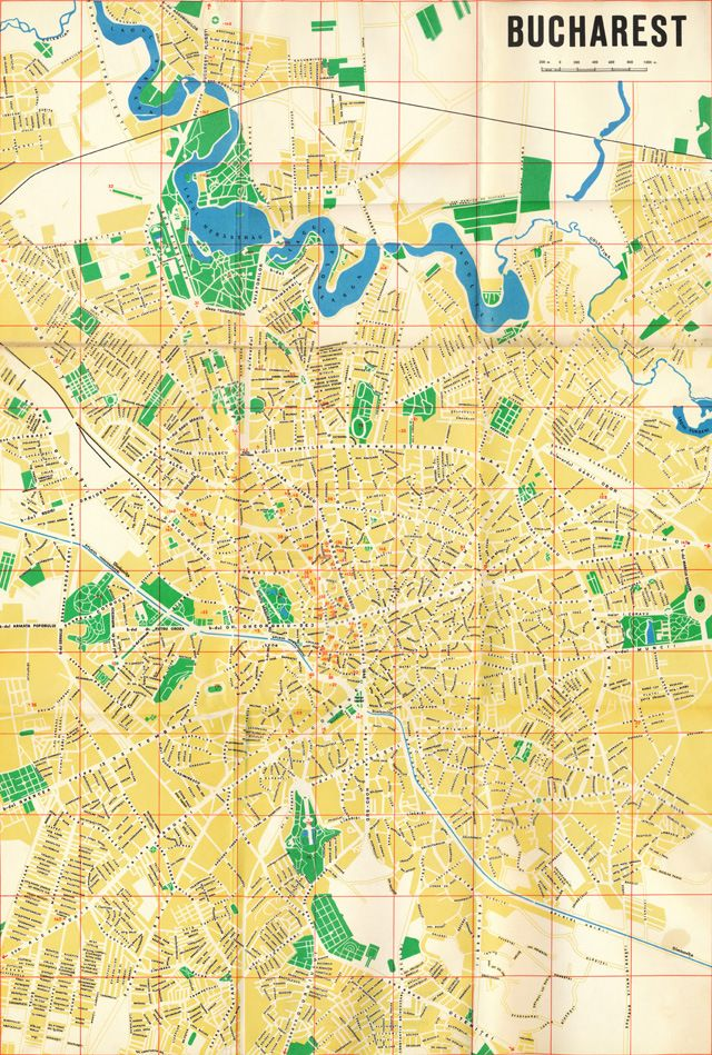Harta 1968 Bucharest Map Quilts