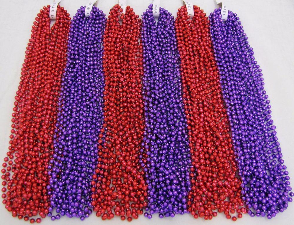 72 Color Choice Mardi Gras Beads Party Favors Necklaces 6 Dozen Free shipping