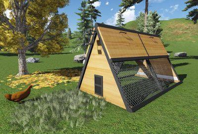 Plan Poulailler Triangle Plan Poulailler Poulailler Construire Un Poulailler