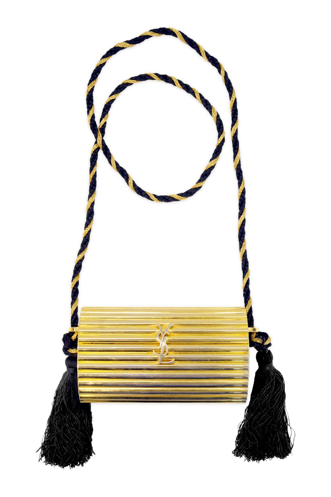d7fb23b4d08e Vintage YSL Gold Tassel Clutch