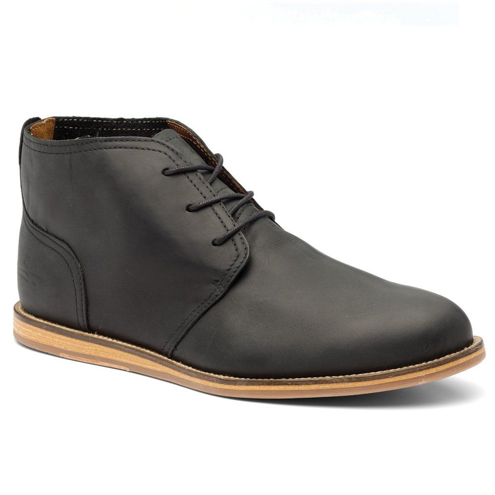Men's Black Leather Chukka Boots - Simply refined. #mens #fashion