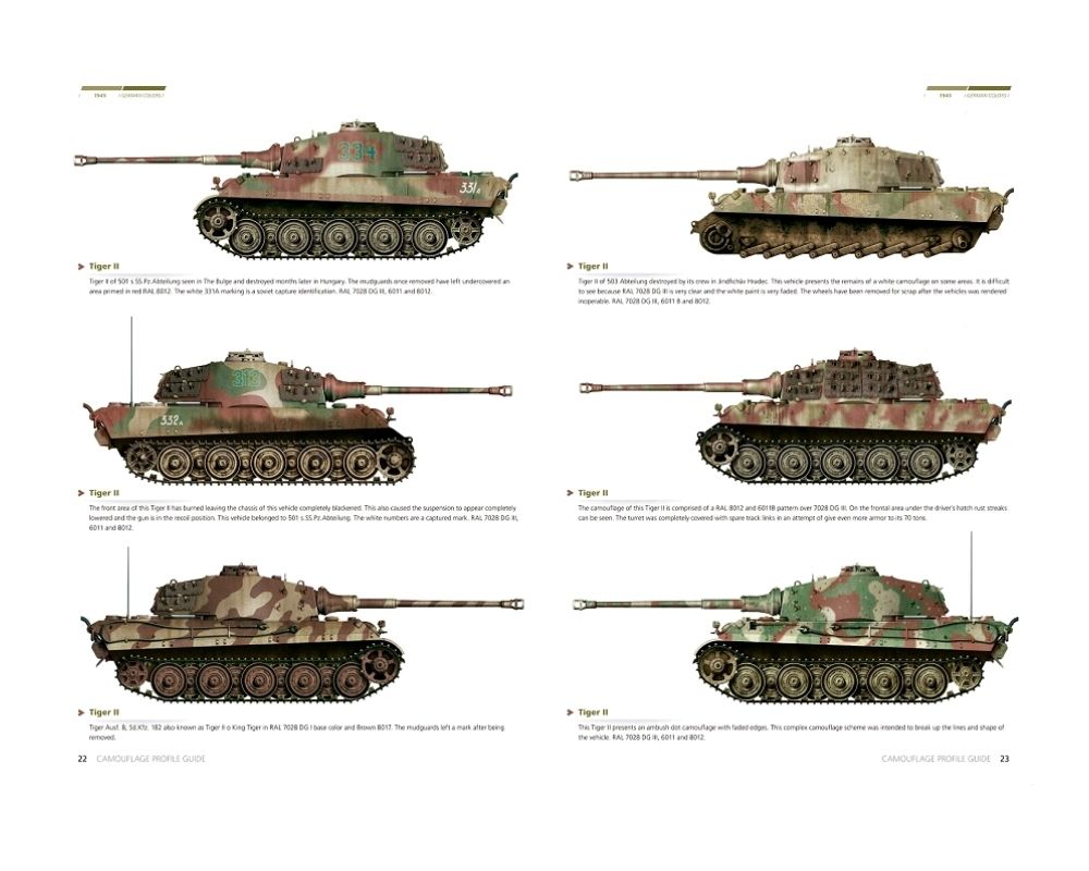 Tank Camouflage Patterns | 1945 GERMAN COLORS, CAMOUFLAGE