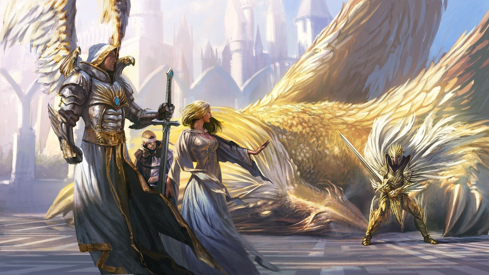General 1920x1080 Might And Magic Heroes Of Fantasy Art Angel Wings Armor Sword