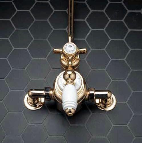Winckelmans Fliesen winckelmans mosaic hexagon black modern bathrooms