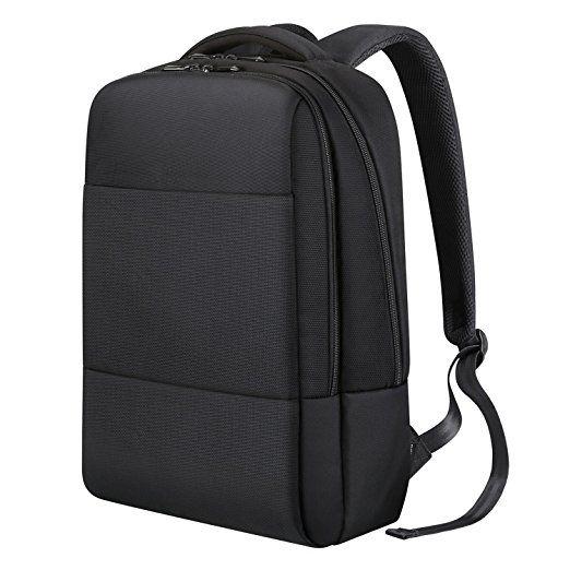 a4313dc440728 REYLEO Business Rucksack Herren und Damen Laptop Tasche Daypack Backpack  für Büro Dienstreise wasserdicht schwarz-18 Liter