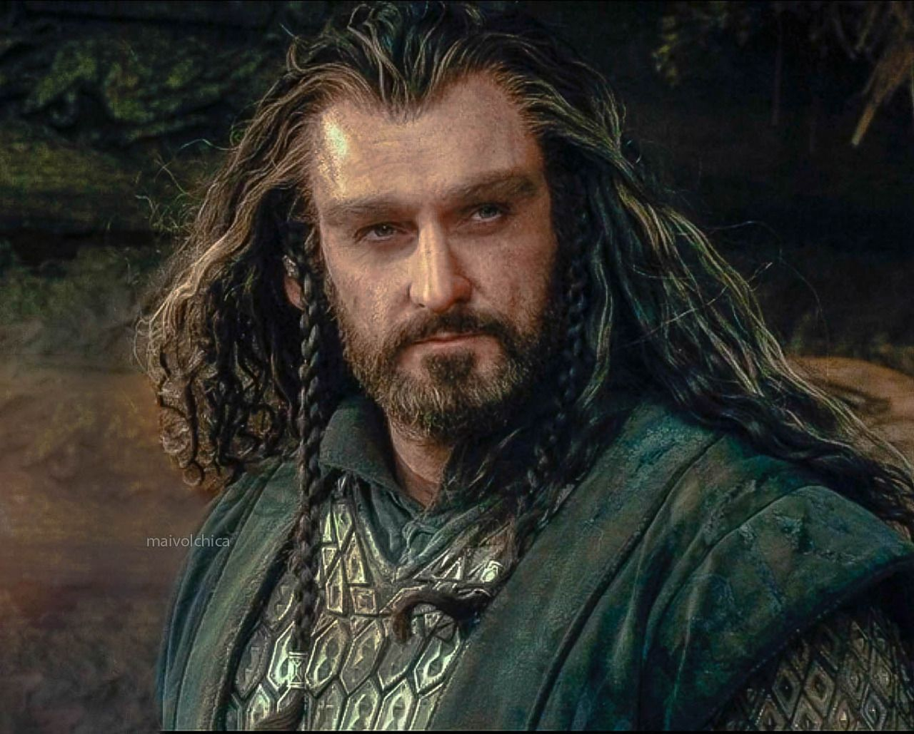 Thorin assessing, calculating, wondering. Is this skinchanger a friend or a threat? What should their next moves be?