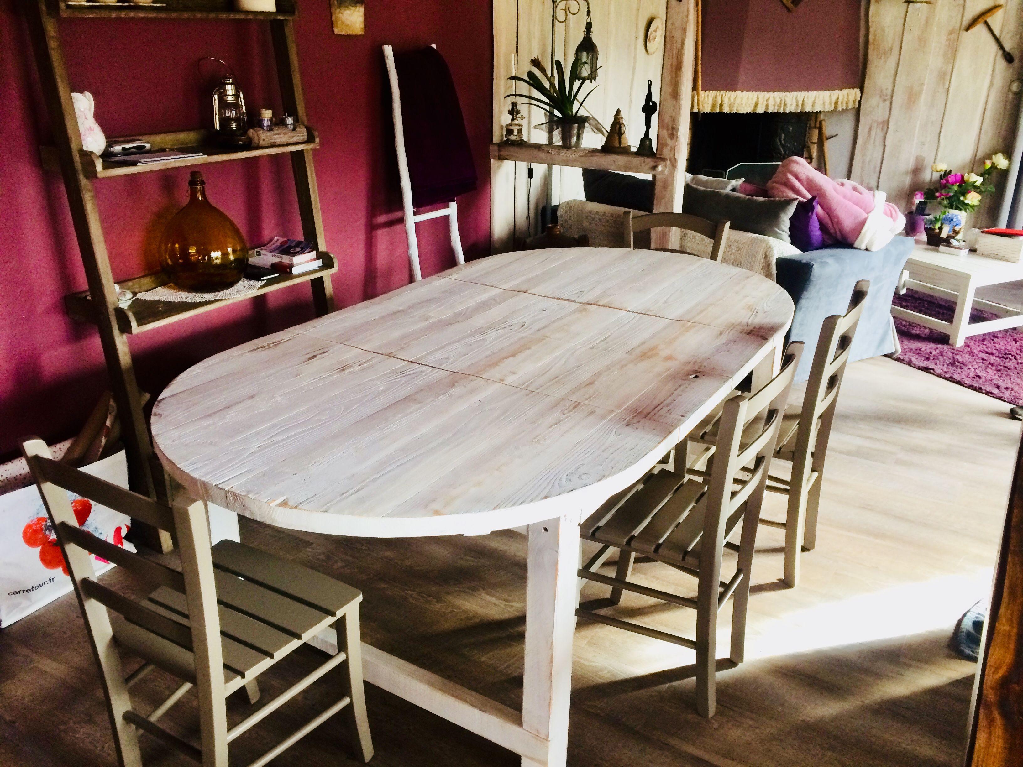 extensible bois blanc vieilli