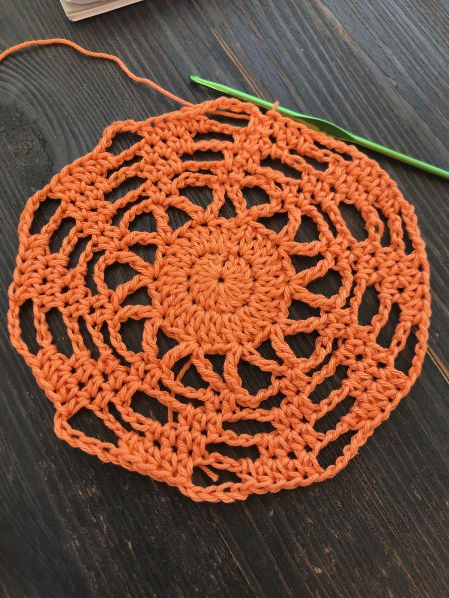 Netztasche mit Windradboden häkeln #crochetedearrings