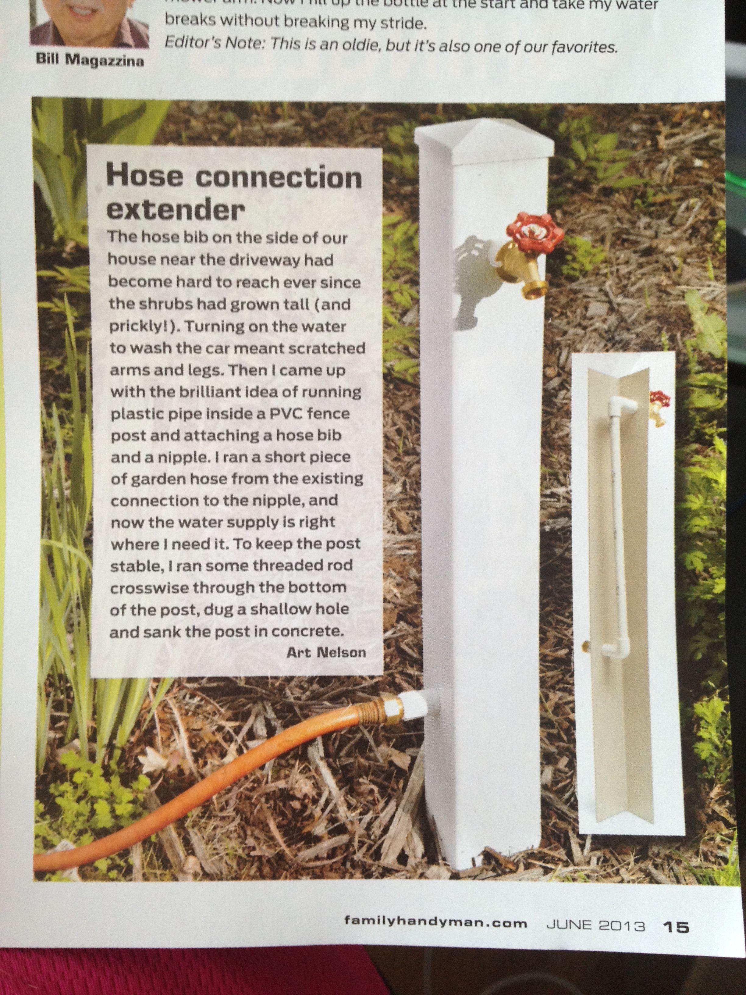 Hose Connection Extender Garden Yard Ideas, Garden Hose, Garden  Decorations, Small Garden Design
