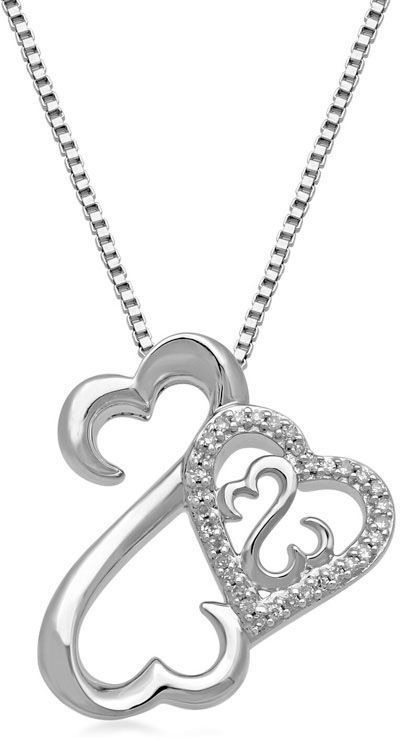 Zales 1/20 CT. T.w. Diamond Happy Elephant Pendant in Sterling Silver and 14K Rose Gold usHFAsKlS