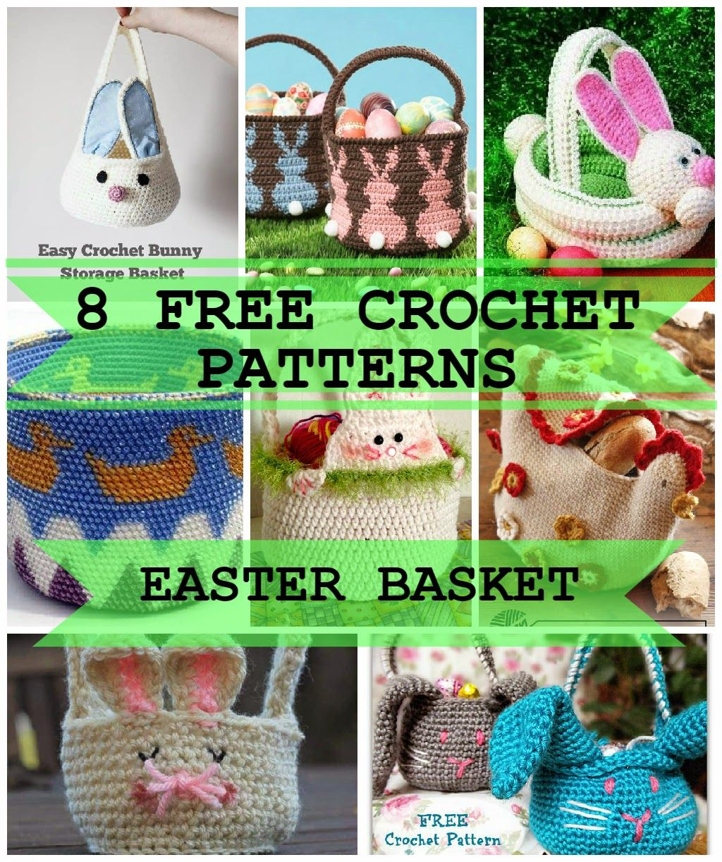8 FREE Crochet Easter Basket Patterns