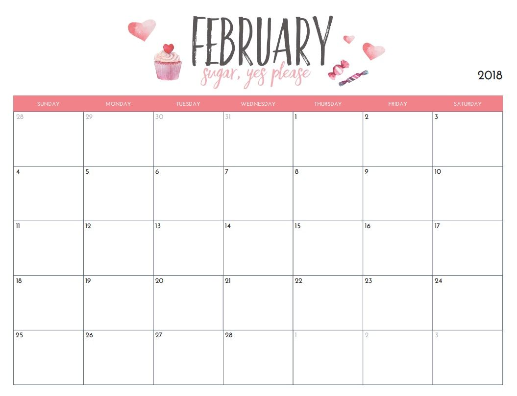 February  Floral Calendar  Calendar    February