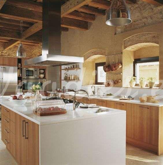 Casa de campo cocina de contraste | Woodies | Cocinas rusticas ...