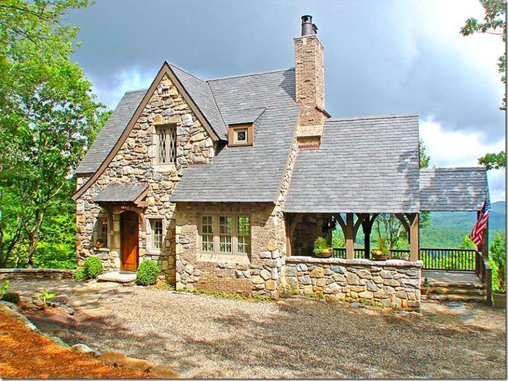 Small Stone Cottage With White Trim Google Search Stone Cabin Cottage House Plans Cabins And Cottages