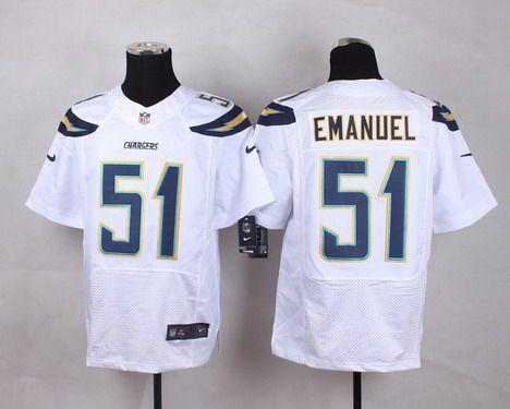 Men s San Diego Chargers  51 Kyle Emanuel 2013 Nike White Elite Jersey 5737eb1d5