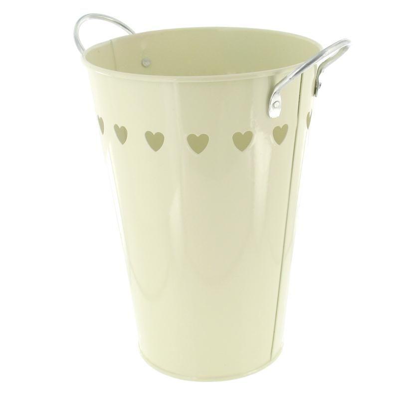 Hobbycraft Metal Vase Cream Heart 20 Cm | Hobbycraft