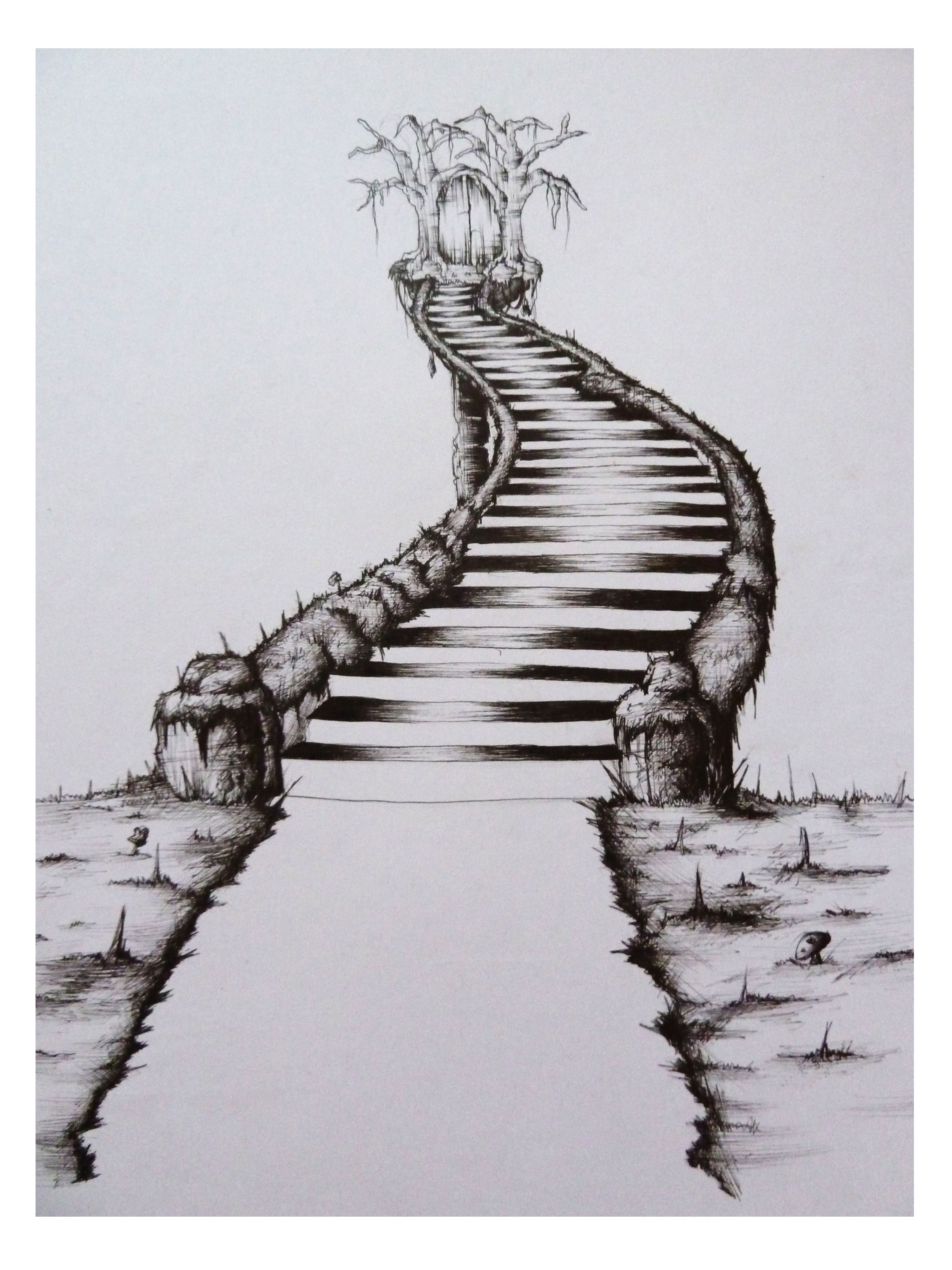Pin By Yvonne Bayham On Stairs Stairway Art Stairway To Heaven Tattoo Stair Art