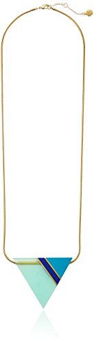 """Trina Turk """"The Modernist"""" Gold-Plated Triangle Pendant Necklace - http://www.sparklingheaven.com/trina-turk-jewelry/trina-turk-the-modernist-gold-plated-triangle-pendant-necklace/"""