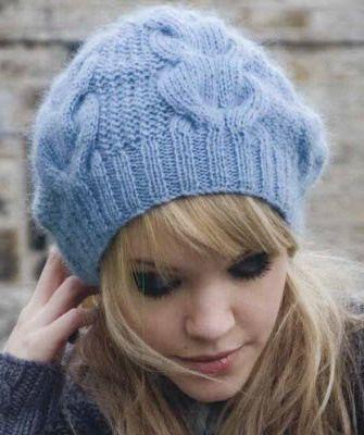 Стильные вязаные шапки для женщин на 2015 год выполняются спицами и ...