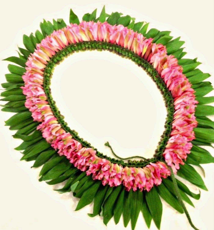 Hawaiian lei fresh flower lei made with alstroemeria